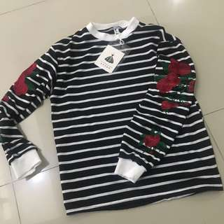 Black and White Stripes Sweater