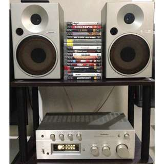 Technics Stereo Integrated Amplifier and Speakers