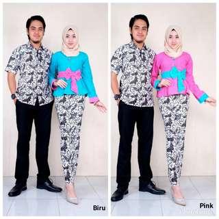 Batik couple blus emboss