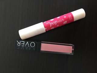 vivid pop stick etude house + make over mate lipstick