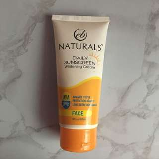 EB naturals daily face Sunscreen