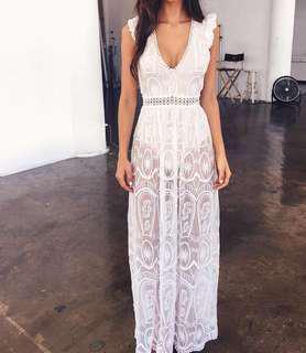 Tigermist maxi lace dress
