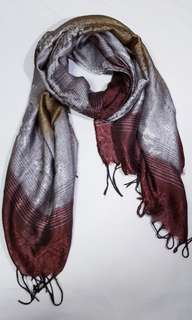 Cotton red butterfly scarf