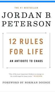 (Ebook) 12 Rules for life : An antidote to Chaos by Jordan B.Peterson