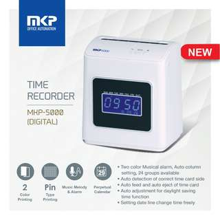 MKP Time Recorder / Punch Card Machine MKP-5000 (Digital)