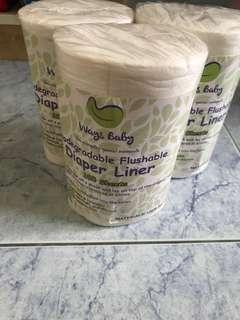 Ways baby biodegradable flushable diaper liner