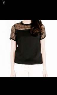 Caged Mesh Top (Black)