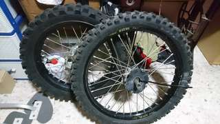 Off road 1 set excel rim with spokes and hub