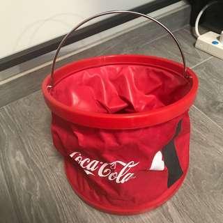 可口可樂特色水桶/冰桶可摺疊收藏