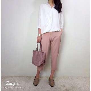 🚚 粉色春氛西裝褲 zoey's