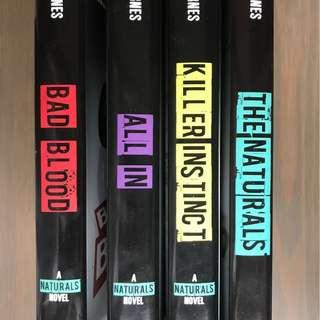 [Hardback] The Naturals series by Jennifer Lynn Barnes (The Naturals, Killer Instinct, All In, Bad Blood)