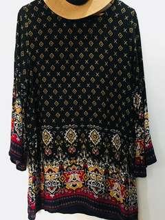 Boho Long-Sleeve Dress
