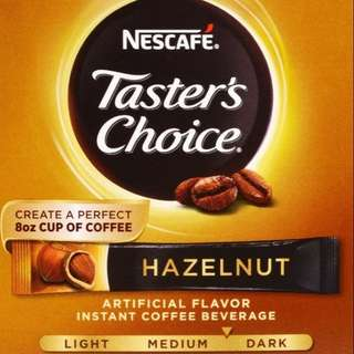 Nescafe Taster's Choice Hazelnut Instant Coffee (per sachet)