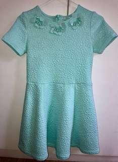 Gingersnaps mint green dress 10/12 yo