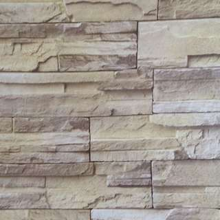 Beige Bricks DIY Wall Home Decor Wallpaper Modern Rustic Vintage Design for Living Bed room