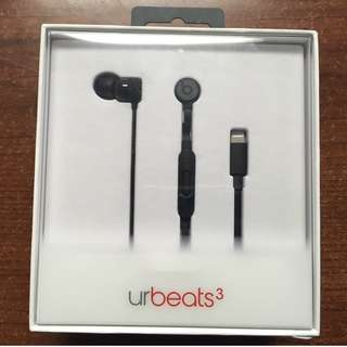 Beats by Dre urBeats3 In-Ear Headphones w/ Lightning Connector - Black