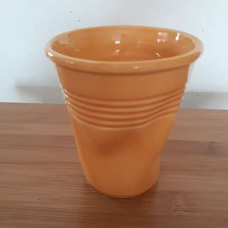 """Crushed Porcelain Cup (""""I am not a Plastic Cup"""""""