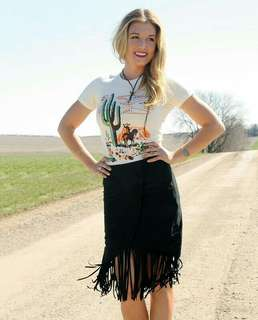BNEW High-waist Fringe Skirt