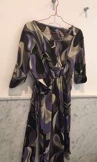 Zara Purple Print Dress