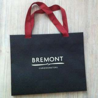 (半價) BREMONT Paper Shopping Gift Bag 紙袋 禮物袋 (Half Price)