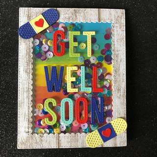 Get well soon shake card