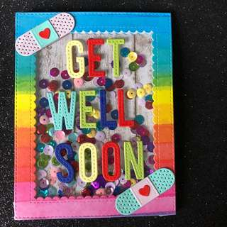 Get well soon shaker card