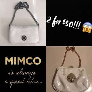 MIMCO Leather Wallet Handbag and Turnlock Clasp Bag