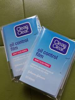Free clean & clear oil control film with min purch. 150K