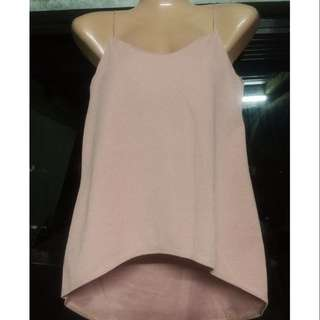 Crepe cami top long back