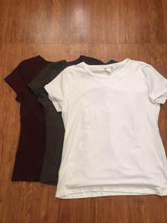 H&M Plain Shirts