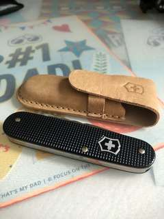 Victorinox Pocket Swiss Knife with original leather case