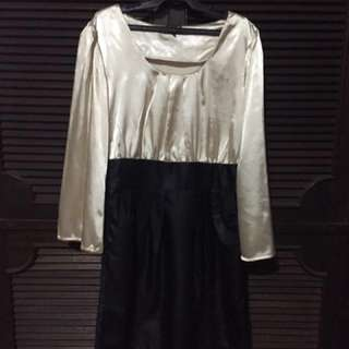 Ruijia Gold and Black Dress
