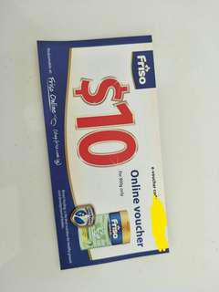 🚚 Selling off a $10 friso online voucher