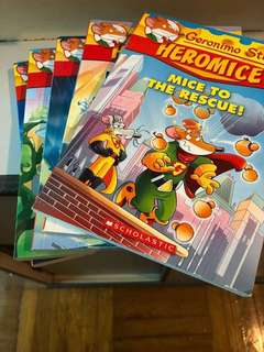 老鼠記者 Geronimo Stilton Heromice set of 5