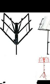 Baru Foldable Music Stand Red Portable Free Carrying bag