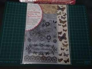 BN 1 embossing folder 4printed vellum 3pattern papers 1 topper sheet