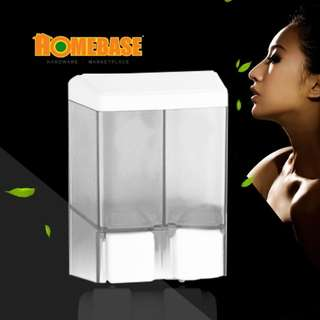 HOMEbase Manual Wallmounted Double soap dispenser - 480 mL