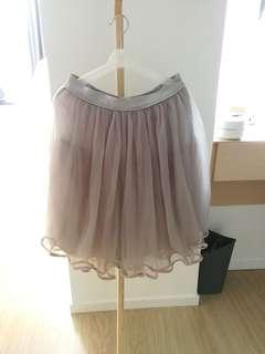 日系淺灰色紗裙