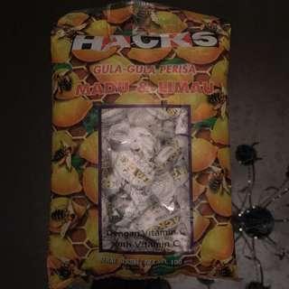 🚚 現貨-馬來西亞🇲🇾HACKS蜂蜜檸檬喉糖100g(維他命C)