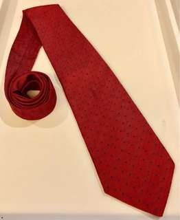 Jim Thompson Red Polka Dot Necktie (EUC)