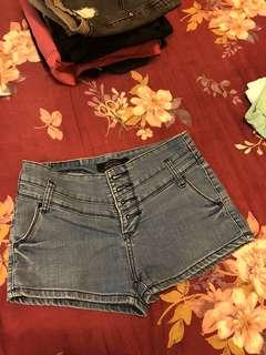 🚚 高腰褲 藍色