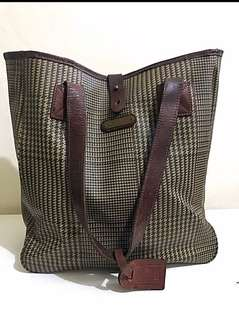 Genuine RALPH LAUREN CHECKED LARGE TOTE! MUST GO!