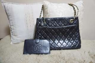 Chanel vintage tote bag and  wallet