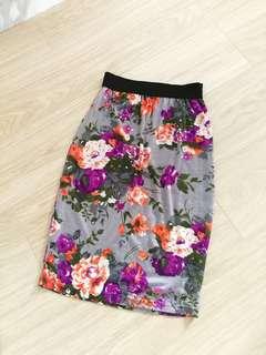 Korwan floral pencil skirt