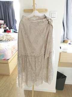 Mercuryduo lace pencil skirt