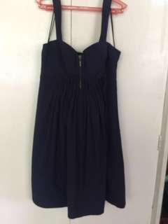 SHORT BLUE DRESS L