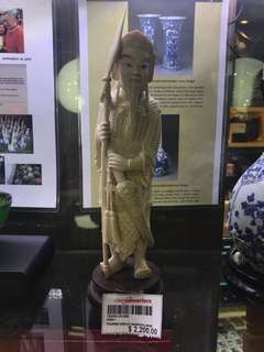 Ivory Figurine Display
