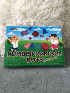 Tensai number Random Dots shapes Flashcards
