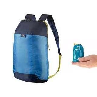 Tas ultra Compact Quechua Ukuran 10L Tas daypack/Backpack Portable