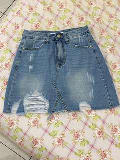 🚚 全新牛仔短褲裙